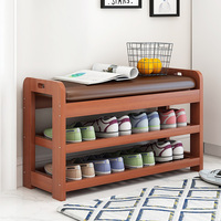 Multi function Modern Shoes Storage Rack Stool with Padded Seat Living Room Convenient Shoebox Cabinet Shoes Organizer