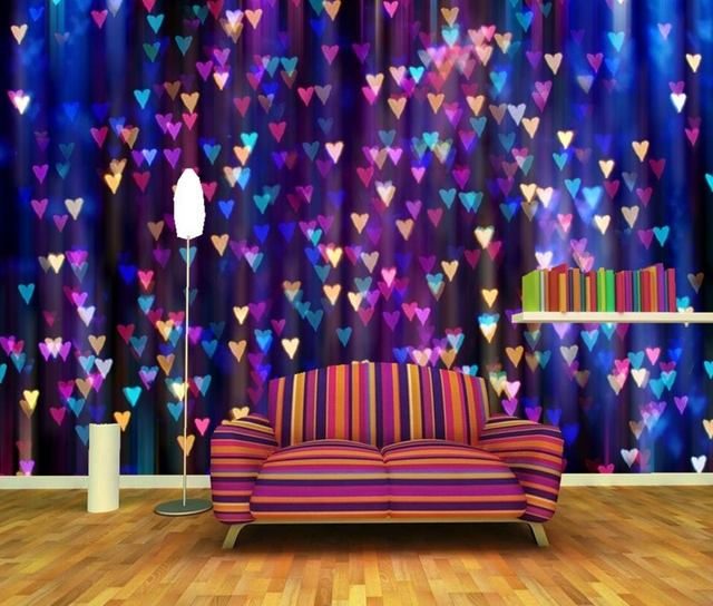 Many Texture Heart Photo Wallpaper,living Room TV Background Sofa Wall Bedroom  Bar Restaurant Holiday