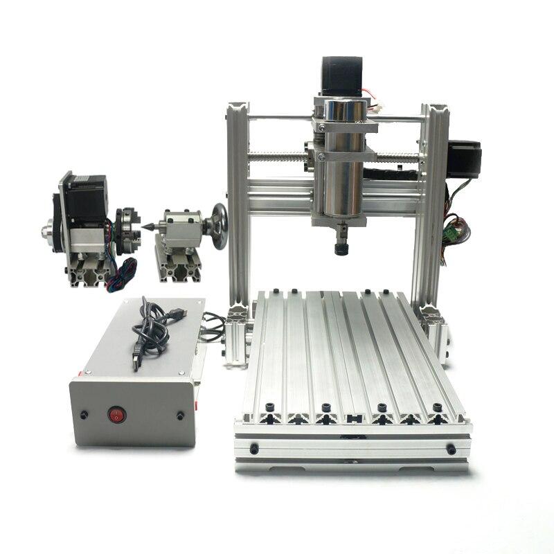 Bricolage mini CNC routeur 3020 CNC fraiseuse 400 W CNC avec kits de forage