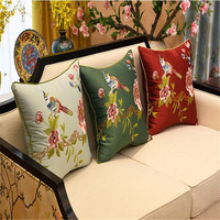 free shipping natrual classical lovely bird throw Pillow with inner 60x60cm Pillow embroidery cushion pillow chair decorative