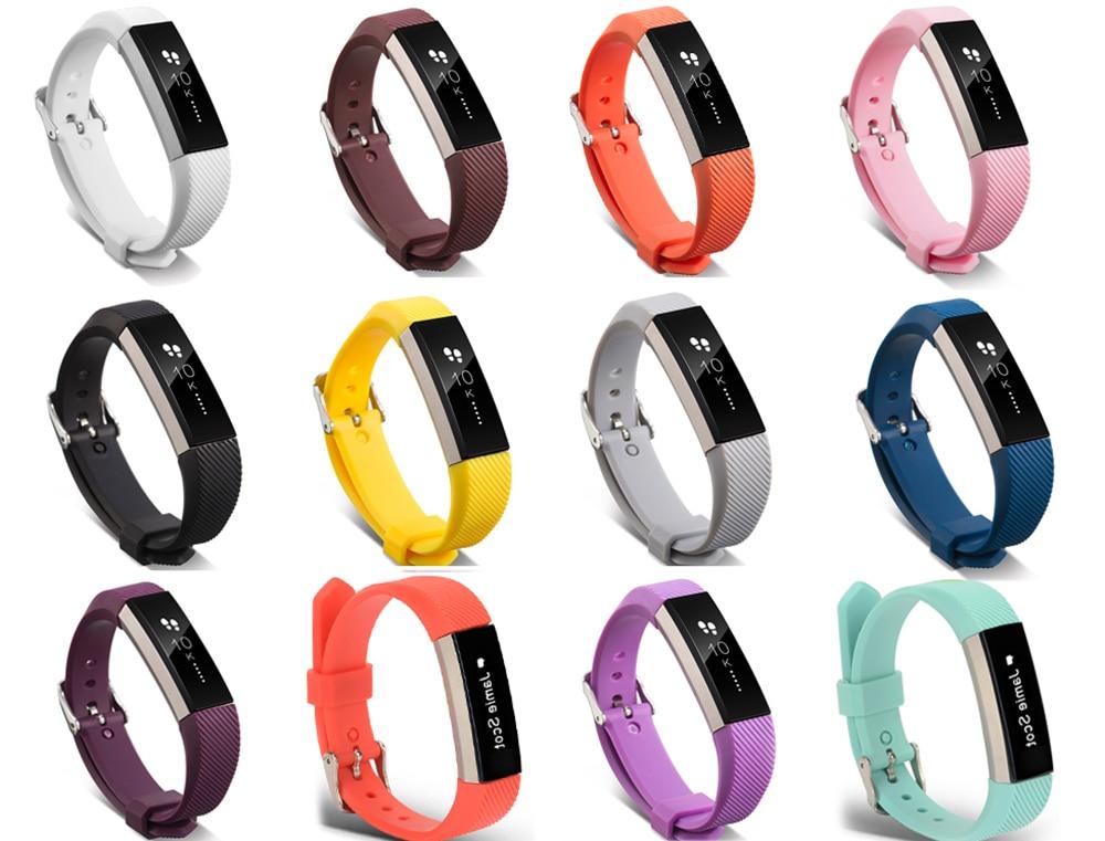 Pulseira de relógio de pulso, pulseira de relógio de pulso clássico de silicone para fitbit alta/alta hr, frequência cardíaca, fitness, pulseira, alta qualidade