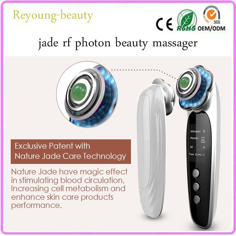 mini rf radio wave frequency led light photon therapy acne wrinkle remover skin whitening tightening beauty machine with jade anti acne pigment removal photon led light therapy facial beauty salon skin care treatment massager machine