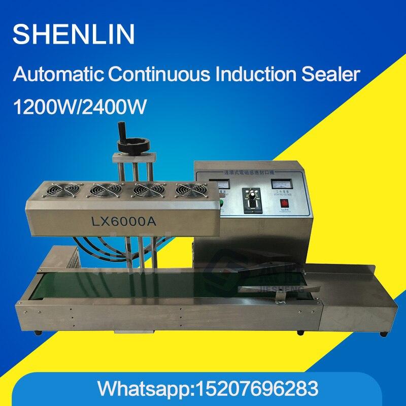 Automatic bottle capper machine plastic bottle cap sealing machine induction bottle capping machine, 20-80mm 1200W  цены