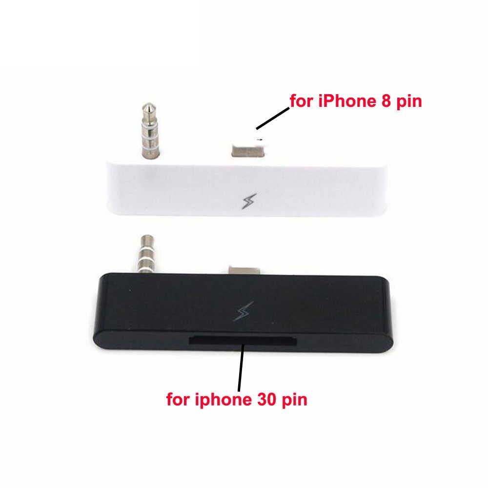 Mobiele Telefoon Adpter voor iphone 30 pin naar 5 6 6p Ondersteunt Opladen en Muziek 3.5mm Aux Audio Opladen converter voor iphone Adapter