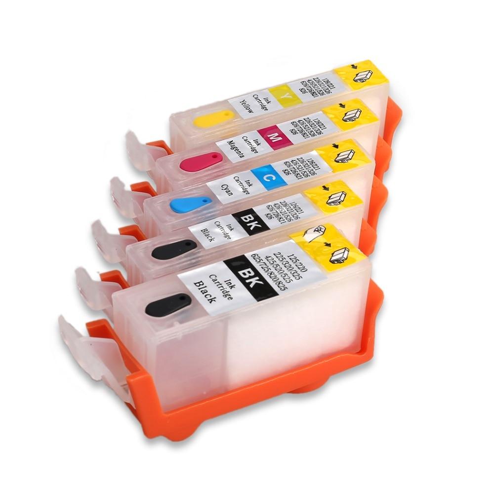 PGI-525 для Canon iP4850 iP4950 iX6550 MG5150 MG5250 MG6150 MG8150 MX885 MG5350 MG6250 MG8250 MG8170 чернила для принтера с чипами