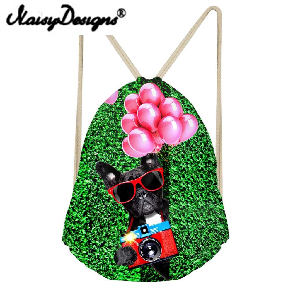 NOISYDESIGNS 3D animals Printed Funny cute Drawstring Backpack School Waterproof Mochila Infantil Travel Gift 2018 new