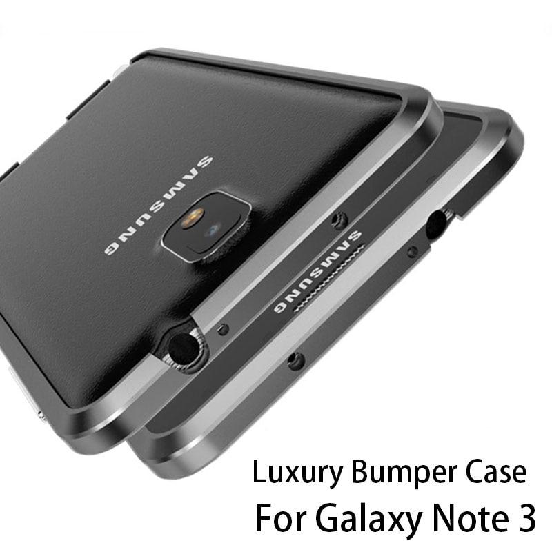 Цена за Роскошные бампер для Samung Galaxy Note 3 алюминиевый чехол для Samsung Note 3 N9000 N9005 металлический бампер Расширенный сплава Рамка