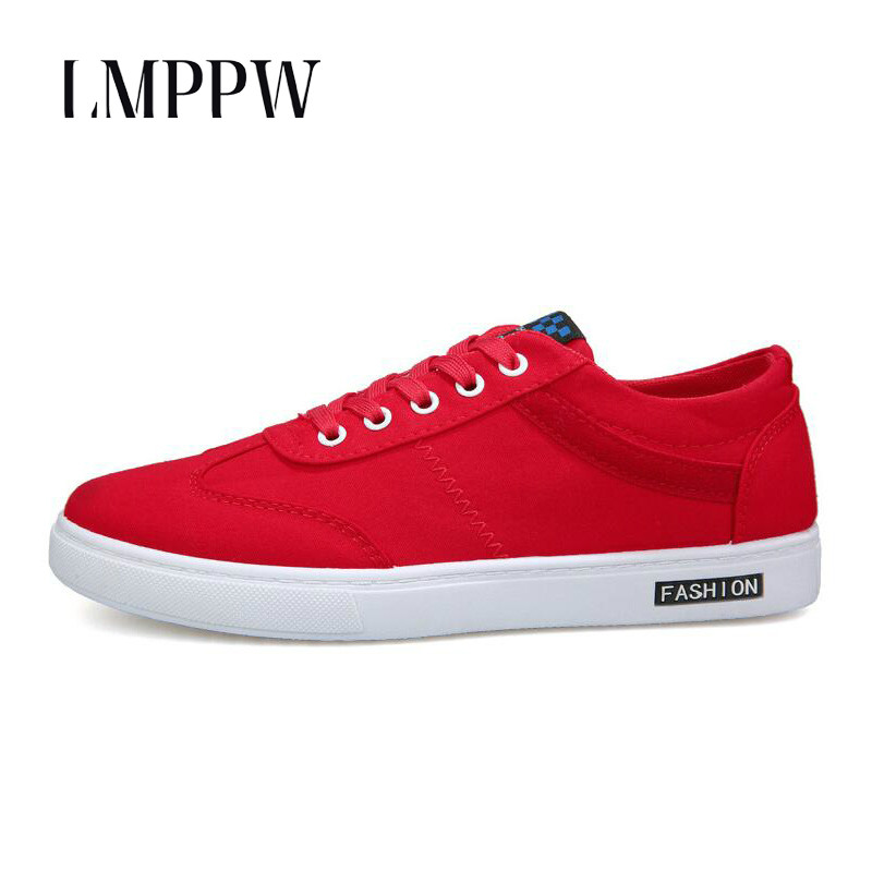 Spring Autumn Men 39 s Casual Shoes Breathable Canvas Shoes Fashion Lace up Sneakers Comfortable Flats Men Canvas Shoes Red 2A in Men 39 s Vulcanize Shoes from Shoes