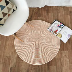 EHOMEBUY New Arrival dywan okrągły dywan różowy jednolity kolor Chenille Hand Made okrągły dywan dywan mata podłogowa salon Parlor piętro|Dywany|Dom i ogród -