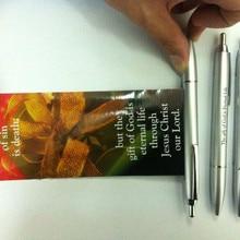 Твердые Продвижение Шариковая ручка с держателем для школы, на заказ прозрачный Шариковая ручка с держателем реклама Ручка Flyer