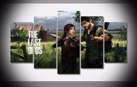 Art Abstract Indoor20x35cmx2 20x45cmx2 20x55cm GAME The Last Of Us Canvas Decoration 5 Pieces