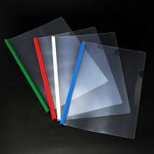 1 шт., простая одноцветная пластиковая прозрачная папка для документов формата А4, деловая папка для хранения файлов, папка для бумаг, канцелярских принадлежностей