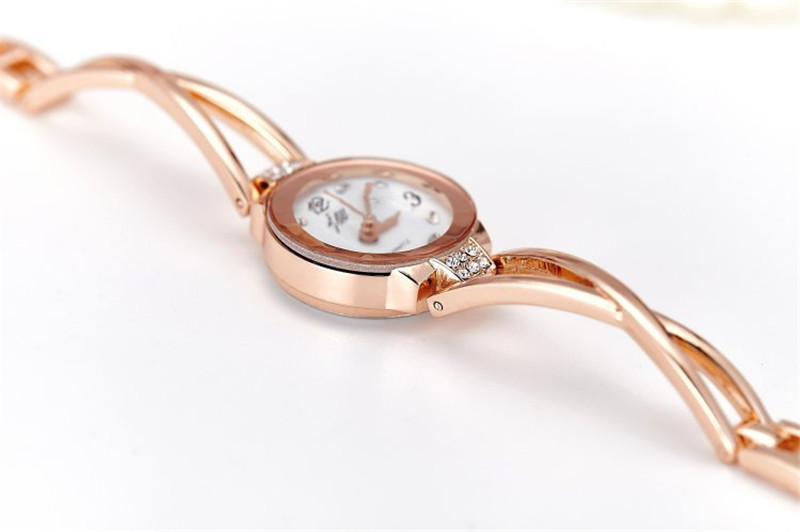 New Fashion Rhinestone Watches Women Luxury Brand Stainless Steel Bracelet watches Ladies Quartz Dress Watches reloj mujer Clock 26