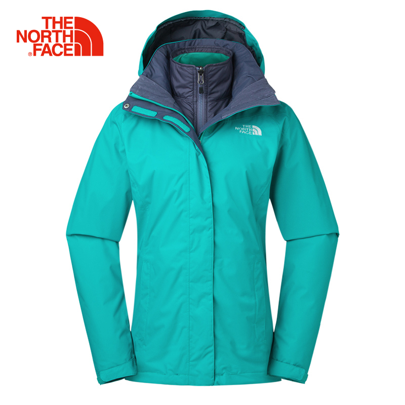 1883fd21e US $427.26 31% OFF|The North Face Women Hiking Cotton Jacket Three In One  Outdoor Sports Waterproof Winter Comfortable Windproof Clothing 3CGT-in ...
