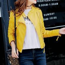 6ea30916e26a36 Hot New Fashion Women Motorcycle PU Leather Jackets Female Autumn Short  Epaulet Zippers Coat Hot Black