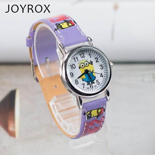 JOYROX  Pattern Children's Watch Hot Cartoon Leather Strap 2018 Fashion Kids Quartz Wristwatch Boys Girls Students Clock