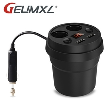 GEUMXL 5V 3.1A Dual USB Car Charger 12-24V 2 Port Cigarette Lighter Adapter Socket Splitter with Voltage LED Display Car-styling