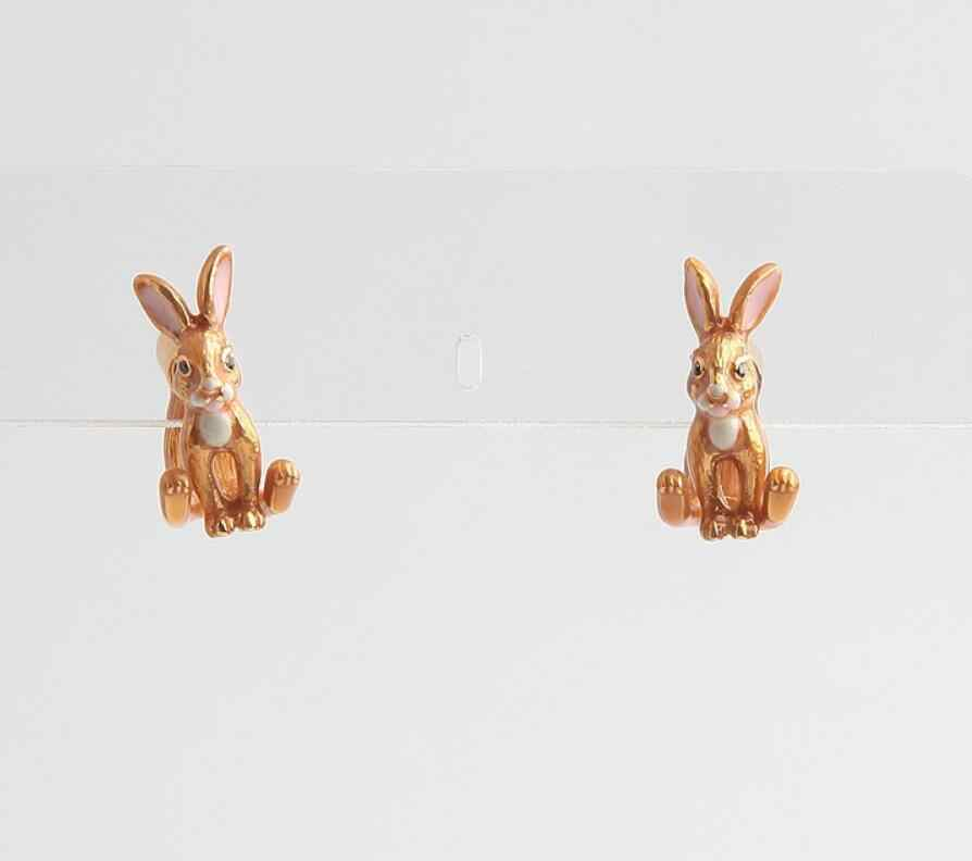 CSxjd 高品質の高級エナメル釉薬かわいいビッグ耳のウサギのブレスレットイヤリングネックレスリングセット
