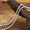 Vintage 3mm Round Bead Link Chain Necklace New Fashion 100% Authentic 925 Sterling Silver Necklace Women Men jewelry