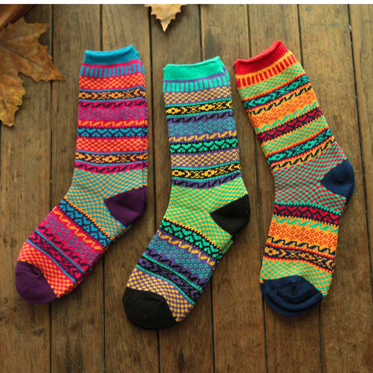 Autumn And Winter Men Casual Crew Socks Women Warm Knitted Cotton Short Socks 1 Pair