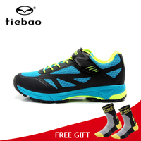 Tiebao Breathable Bicycle Leisure Cycling Shoes Men MTB Road Bike Athletic Shoes Rubber Soles Self Locking Shoes