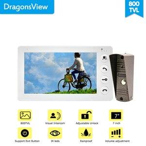 "Image 4 - Dragonsview 7 ""วิดีโอ Intercom Doorbell โทรศัพท์ LCD สีโลหะกลางแจ้งสนับสนุนล็อคปุ่ม (ไม่รวม) video Call"