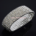 Wedding Crystal Many Rows Bracelet & Bangle For Woman ,Bride