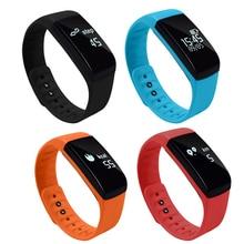Новый спортивный Bluetooth Смарт часы браслет сердечного ритма Мониторы трекер 0.66in OLED Экран умный Браслет
