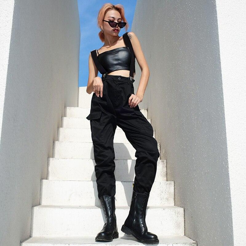 Salopette Coton Femmes Nouveau Pleine Danse Automne Noir 2018 Hop Femelle Harajuku Pantalon Black Longueur Hip Lâche Joggers Barboteuses qEtwZxnxg