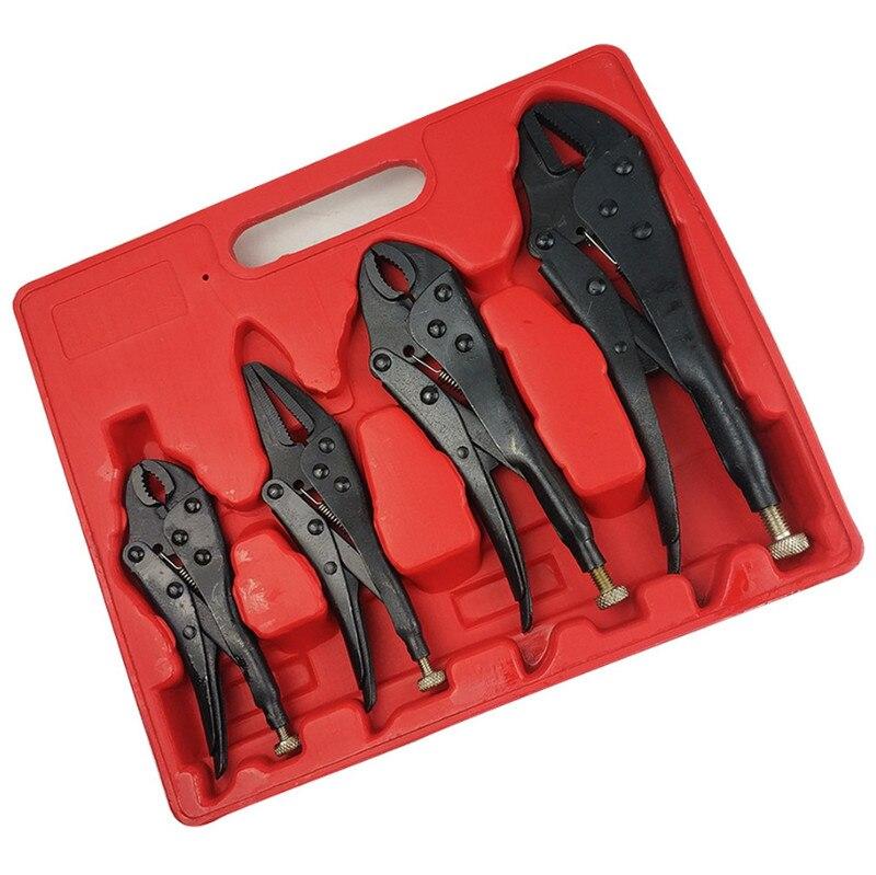 "4Pcs 5""/6.5""/7""/10"" Multi Tool Locking Pliers For Metalworking Repair Tool Pliers Forceps Vice Labor Saving Hand Tool Set"