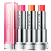 Three colors gradient brand lipstick lip gloss  batom mate  easy to create makeup Bite lips beauty nude lipstick
