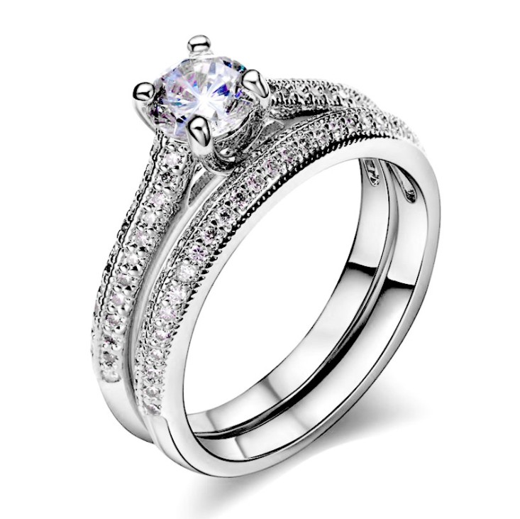 European 925 Sterling silver RING RING Female Crystal from Swarovski Simple Temperament Couple ringS fashion jewelry