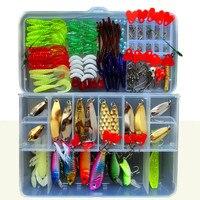 192 Pcs Fishing Lure Set With Box Fishing Lure Kits Metal Hard Lure Soft Bait Plastic