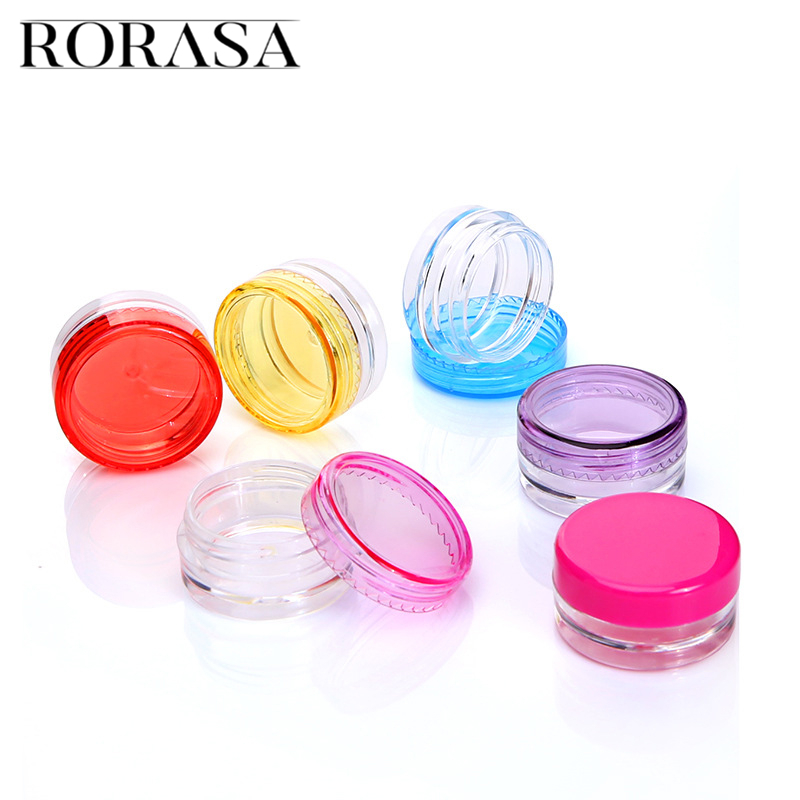 10Pcs/set Empty Cosmetic Jar Pot Clear Eyeshadow Powder Cream Bottle Box Small Sample Eyeshadow Makeup Cream Lip Balm Container