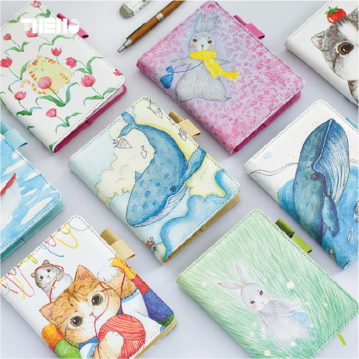 PU Leather Cover Planner Notebook Graffiti Travel Journal Diary Book Exercise Composition Note Notepad Gift Stationery A6