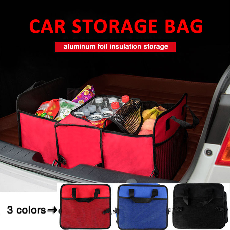 Accesorios de coche organizador de maletero plegable juguetes de almacenamiento de alimentos camión contenedor de carga bolsas caja de almacenamiento de coche negro