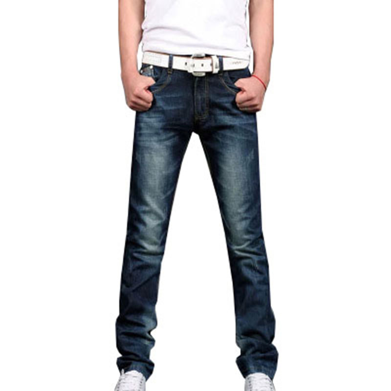 2018 Hot Casual Straight Blue Mens Denim Jeans Summer Autumn Cool Classic Style Fashion Male Full Lenght Pants ZLS02