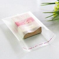 דבק עצמי הקמעונאי קישוטי שקיות צלופן שקופה אחסון מפלסטיק מט ברור דבק עצמי חותם OPP שקיות אריזת פולי
