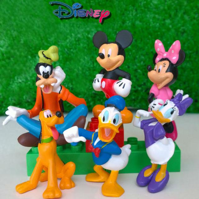 Disney Mickey Mouse Minnie Goofy 6pcs/Lot