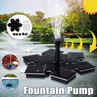 DC 5V 1.4w Solar Panel Power Fountain Water Pump Submersible Watering Floating Pump Pool Pond Waterfall Floating For Garden