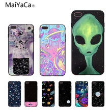 MaiYaCa Sky aliens UFO astronauts lovely Phone Accessories Case For Apple iPhone