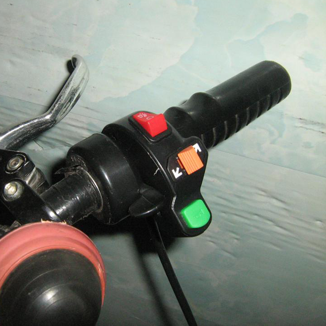22 Mm Guidon Switch Assembly 7 boutons Array for ATV Moto Vélos de course