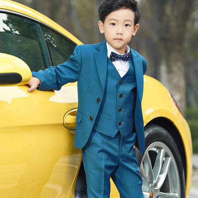2018 5pcs Boys blazers kids Boys suits for weddings Prom Suits ...