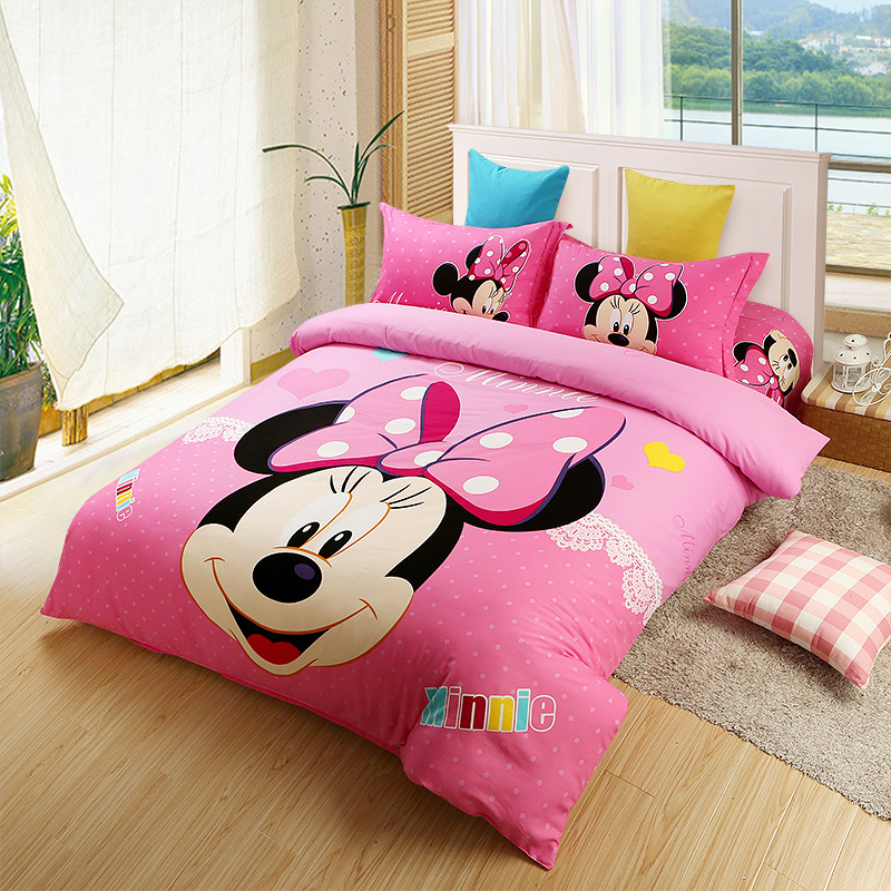 Kids Christmas Pink Minnie Mouse Comforter Set Twin Full Queen King Size Bedding Set Oil Printing Girls Cotton Bed Sheets Duvet Duvet Coverlet Duvet Cover Bedding Setduvet Sheet Aliexpress