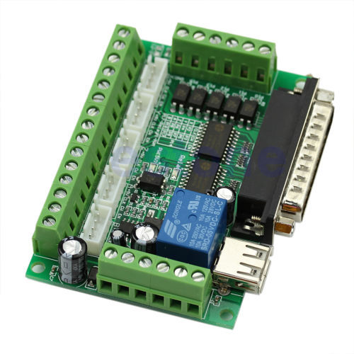 Board CNC MACH3 Interface 5 Axis With Optocoupler Adapter Stepper Motor Driver