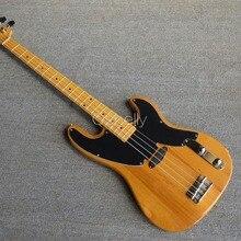 Высокое качество QShelly на заказ натуральный Винтаж 4 струны пепельного тела обратный головной убор электрическая бас гитара музыкальный инструмент магазин