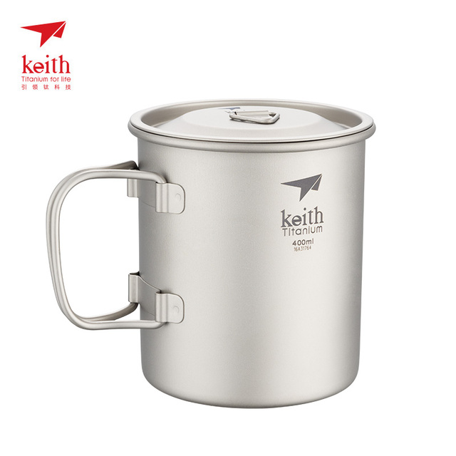 Keith 300ml ~900ml Lightweight Titanium Mug Outdoor Camping Pot Cup Bowl 3 in 1