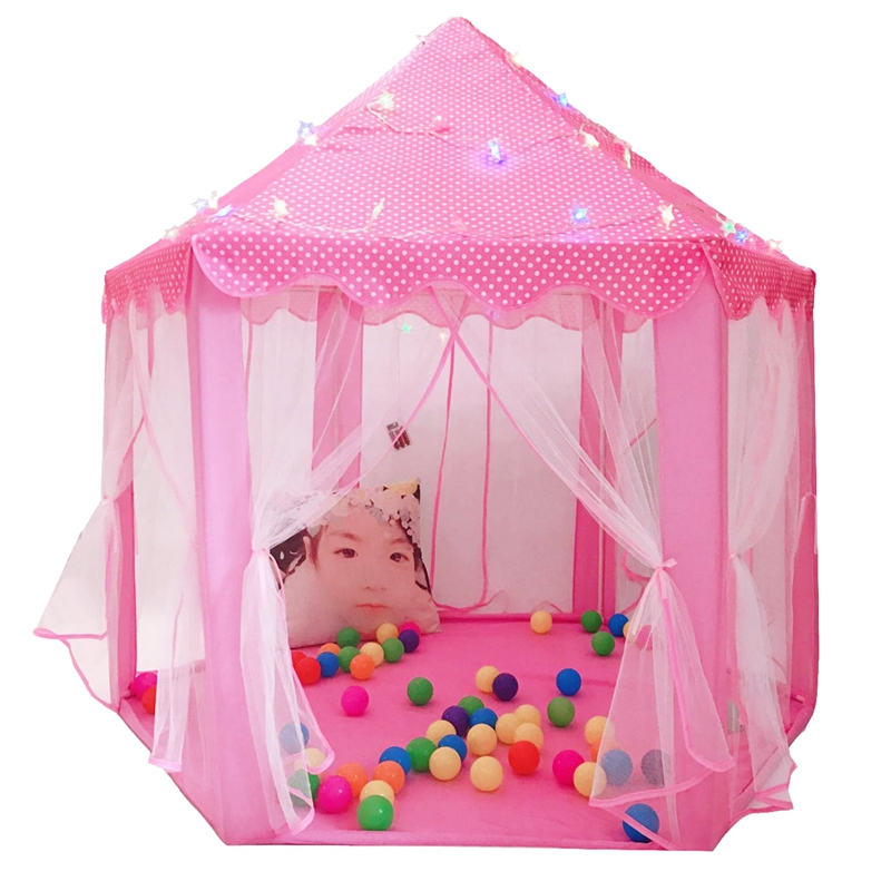 Play Fairy House Indoor And Outdoor Kids Play Tent Hexagon Princess Castle Playhouse For Girls Funny