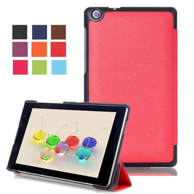 new style 0d313 bad8c US $10.8 |3 Folding Ultra Slim Stand Leather Case Cover for 7