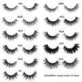 LEHUAMAO false eyelashes handmade real mink lashes fur long 3D strip thick fake faux mink eyelashes Makeup beauty tool A19